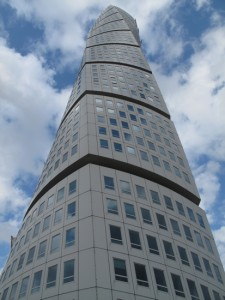 The iconic Turning Torso in Malmö