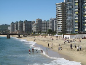 Playa Blanca Beach, Vina del Mar